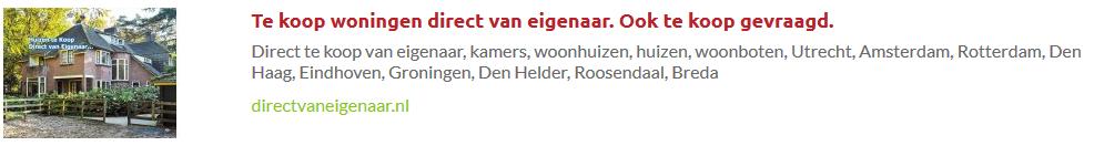 Banner advertenties op directvaneigenaar.nl