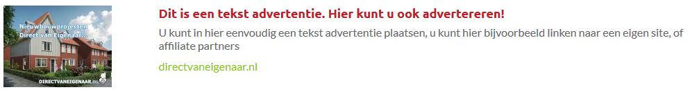 Verkoop verhuur uw huis via een advertentie banner op directvaneigenaar.nl